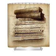 Ghost Writer Shower Curtain