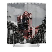 Ghostly At The Tower Shower Curtain
