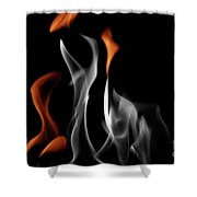 Ghostly Flames Shower Curtain