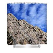 Ghostly Flatirons Shower Curtain