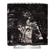 Ghostly Fortress Shower Curtain