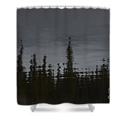 Ghostly Green Canoe Shower Curtain