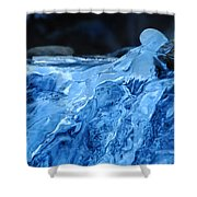 Ghostly Ice Shower Curtain
