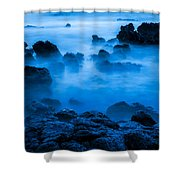 Ghostly Ocean 1 Shower Curtain