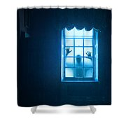 Ghostly Person At A Window Shower Curtain
