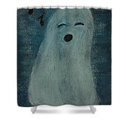Ghostly Serenade Shower Curtain