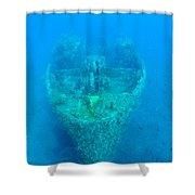 Ghostly Ship Wreck Shower Curtain