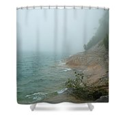 Ghostly Shore Shower Curtain