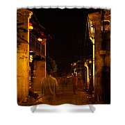 Ghostly Street Shower Curtain