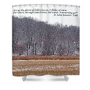 Ghosts Of Fallen Leaves Shower Curtain