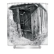 Ghosts Of The Outhouse Rocky Mountains Shower Curtain