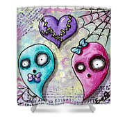 Ghoulfriends Shower Curtain