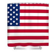 Giant American Flag Shower Curtain