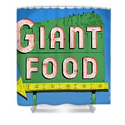 Giant Food Shower Curtain