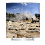 Giant Geyser Group Shower Curtain