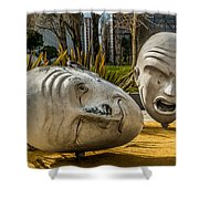 Giant Heads Shower Curtain