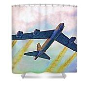 Giant In The Sky-digital Art Shower Curtain
