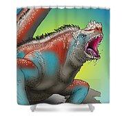 Giant Marine Iguana Shower Curtain