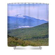 Giant Mountain From Owls Head Shower Curtain