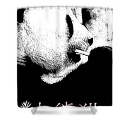 Giant Panda With Script #2 Shower Curtain