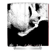 Giant Panda With Script #3 Shower Curtain