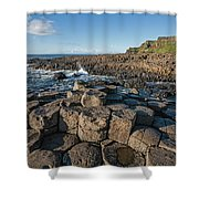 Giant S Causeway, Antrim Coast Shower Curtain