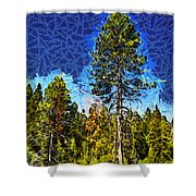 Giant Tree Abstract Shower Curtain