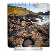 Giant's Causeway Circle Of Stones Shower Curtain