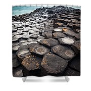 Giant's Causeway Hexagons Shower Curtain
