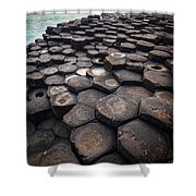 Giant's Causeway Pillars Shower Curtain