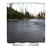 Gibbon River Shower Curtain