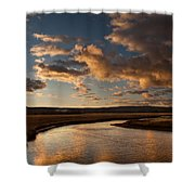 Gibbon River Yellowstone Shower Curtain