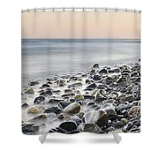 Gibraltar And Africa At Pink Sunset Shower Curtain