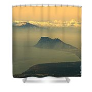Gibraltar And Africa At Sunset Shower Curtain