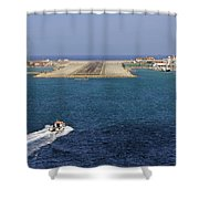 Gibraltar International Airport Shower Curtain