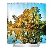 Gibralter Mi Waterway Shower Curtain