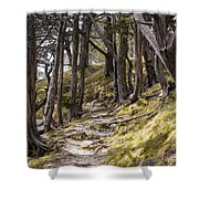 Gibraltar Rock Trail Wisconsin Shower Curtain