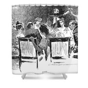 Gibson: Dinner Party, 1894 Shower Curtain