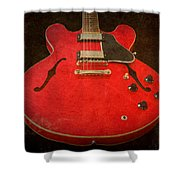 Gibson Es-335 Electric Guitar Body Shower Curtain