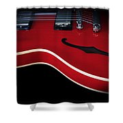 Gibson Es-335 Electric Guitar Shower Curtain