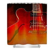 Gibson Es-335 On Fire Shower Curtain