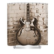 Gibson In Sepia Shower Curtain