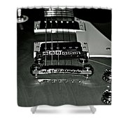 Black And White Les Paul Shower Curtain