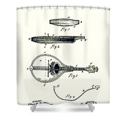 Gibson Mandolin Patent 1898 Shower Curtain