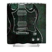 Gibson Sg Standard Green Grunge Shower Curtain