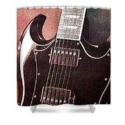 Gibson Sg Standard Red Grunge Shower Curtain