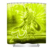 Giddy Action Shower Curtain