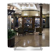 Gift Shops Queen Mary Ocean Liner Shower Curtain