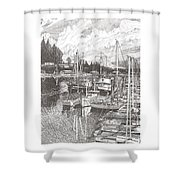 Gig Harbor Entrance Shower Curtain