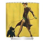 Gil Elvgren's Pin-up Girl Shower Curtain